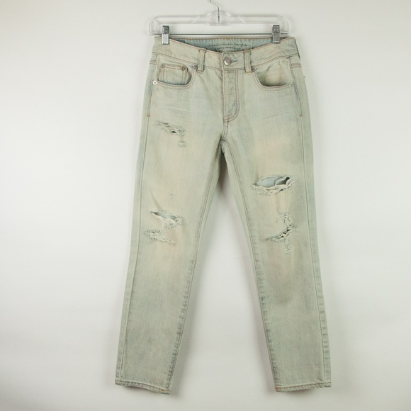 486d3d56824 American Eagle Outfitters Denim - American Eagle Bleached Distressed Boy  Crop Jeans
